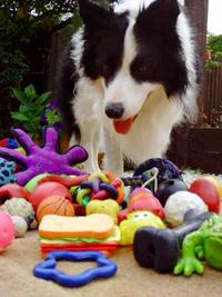 Gable met speelgoed