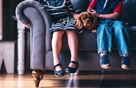 Kinderen met hond