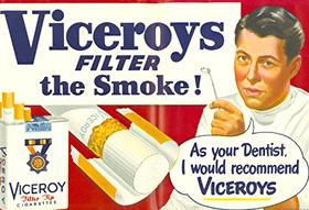 Tandarts beveelt sigaretten aan in 1949