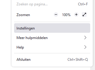 Firefox Instellingen
