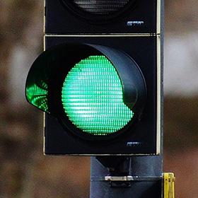 Startknop - groen licht